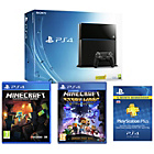 more details on PS4 500GB Console, Minecraft, MC: Story Mode, 12 Month PSN.