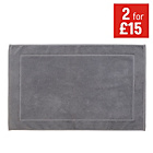 more details on Collection Hotel Style Bath Mat - Grey.