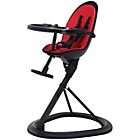 more details on Ickle Bubba Orb Red on Black Highchair.