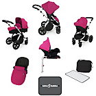 more details on Ickle Bubba V3 with Isofix Base Travel System - Pink/Silver.