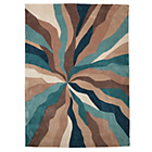 more details on Collection Starburst Hand Tufted Rug - 80x150cm - Teal.