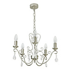 more details on Heart of House Lavena Glass Chandelier - Champagne Silver.