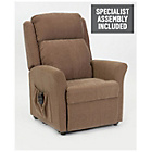 more details on Memphis Riser Recliner Chair with Dual Motor - Mushroom.