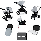 more details on Ickle Bubba V3 with Isofix Base Travel System - Silver/Black