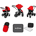 more details on Ickle Bubba Stomp V3 Red on Silver Travel System.