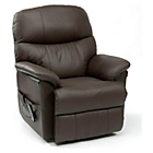 more details on Lars Riser Recliner Chair Dual Motor - Dark Brown Leather.