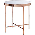more details on Collection Round Glass Top Side Table - Copper Plated.