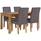 more details on Collection Hampshire Extendable Table and 4 Charcoal Chairs.