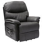 more details on Lars Riser Recliner Chair with Dual Motor - Black Leather.