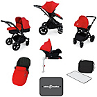 more details on Ickle Bubba V3 with Isofix Base Travel System - Red/Black.