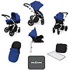 more details on Ickle Bubba V3 with Isofix Base Travel System - Blue/Silver.