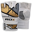 more details on RDX Leather X Grappling Gloves Gold - Medium/Large