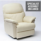 more details on Lars Riser Recliner Chair with Dual Motor - Cream Leather.