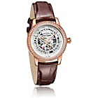 more details on Rotary Ladies' Rose Gold Plated Skeleton Strap Watch.