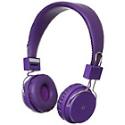 KitSound Manhattan Bluetooth On-Ear Headphones - Purple