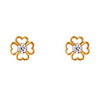 more details on 9ct Gold Cubic Zirconia Four Leaf Clover Studs.