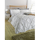 more details on Heart of House Hadley Pintuck White Bedding Set - Double.