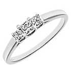 more details on 18ct White Gold 0.33ct Diamond Princess Cut Ring - Size R.