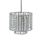 more details on Collection Misty 2 Tier Beaded Lampshade - Chrome.