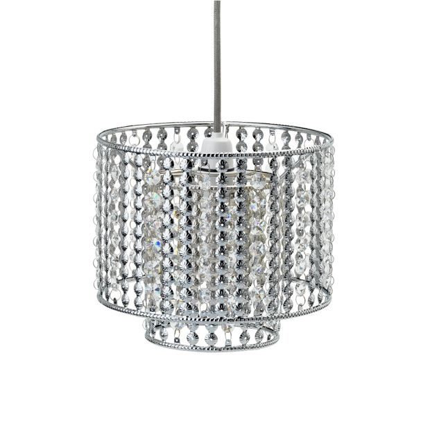 Argos Wall Lamp Shades : Buy Collection Misty 2 Tier Beaded Lampshade - Chrome at Argos.co.uk - Your Online Shop for Lamp ...
