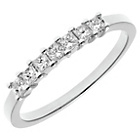more details on 18ct White Gold 0.33ct Diamond Princess Cut Ring - Size T.