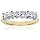more details on 18ct Gold 1ct Diamond Princess Cut Ring - Size R.