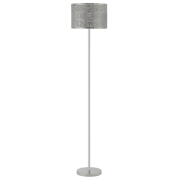 Buy collection firenze fretwork floor lamp nickel at for Argos wood floor lamp