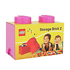 more details on LEGO® Storage Brick 2 - Pink.