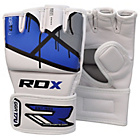 more details on RDX Leather X Grappling Gloves Blue - Large/Extra Large