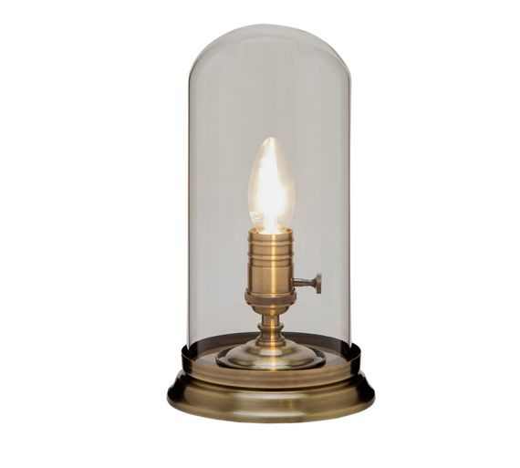 Buy heart of house coles cloche glass table lamp antique for Table lamps argos