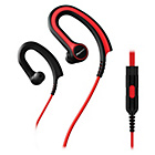 more details on Pioneer Lightweight Earclip Sports Headphones - Black/Red.