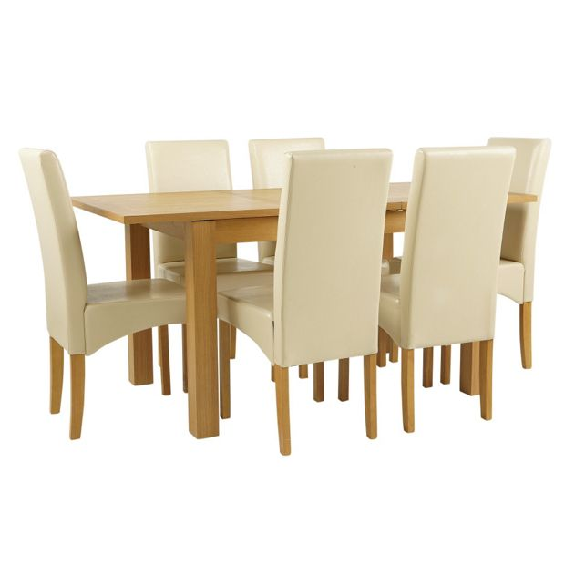 Buy Dining Table And Chairs Online: Buy Collection Swanbourne Oak Veneer Ext Table & 6 Chairs