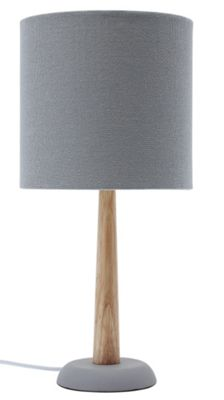 Buy grey ceramic table lamp at your online for Table lamps argos
