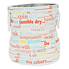 more details on HOME Round Laundry Bin - Typography.