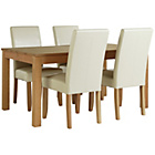 more details on Collection Hampshire Extendable Table and 4 Cream Chairs.
