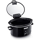 more details on Crock-Pot 5.7L Hinged Lid Slow Cooker - Black.