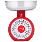 more details on ColourMatch Mechanical Kitchen Scales - Poppy Red.