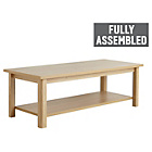 more details on Collection Truro 1 Shelf Coffee Table - Oak Effect.