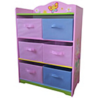 more details on Fairy Storage Cabinet with Farbric Bins.