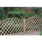 more details on Forest Hamburg Open Lattice Fence Panels - Pack of 8.