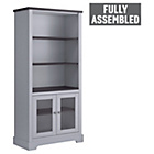 more details on Heart of House Westbury Glazed Bookcase - Grey.
