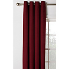 more details on Heart of House Hudson Lined Eyelet Curtains -117x137- Berry.