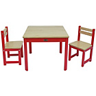 more details on Tikk Tokk Boss Wooden Nursery Table and Chairs Set - Red.