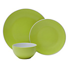 more details on ColourMatch Two Tone 12 Piece Dinner Set - Apple Green.