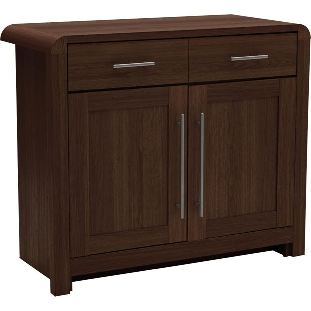 Buy heart of house elford 2 door 1 drwr sideboard walnut Walnut effect living room furniture