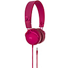 more details on Xqisit Foldable On-Ear Headphones - Burgundy.