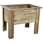 more details on Forest Cambridge Wooden Planter - 50cm.