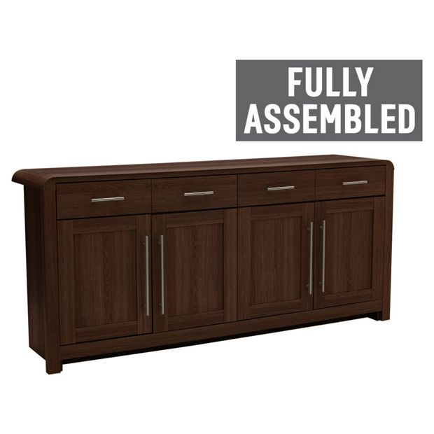 Buy Heart Of House Elford 4 Door Sideboard Walnut Effect At Your Online Shop For