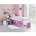 more details on Callum Cabin Bed with Pull Out Desk and Ashley Mattress-Pink