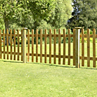 more details on Forest 0.9m Pale Fence Panel - Pack of 4.